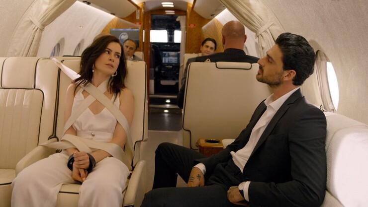 Лаура в самолете